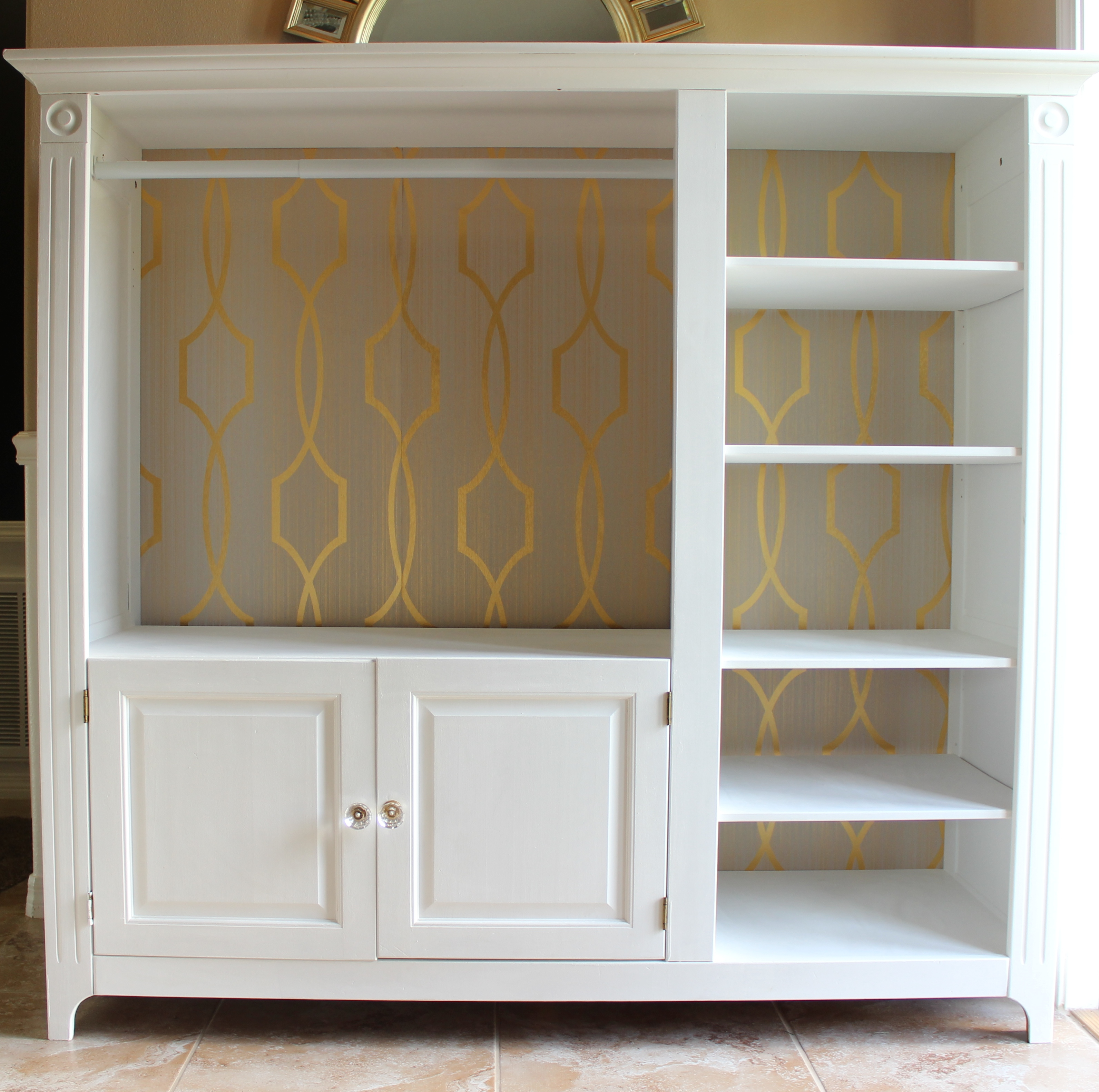 Tv Stand Turned Wardrobe Closet Frills Amp Drills