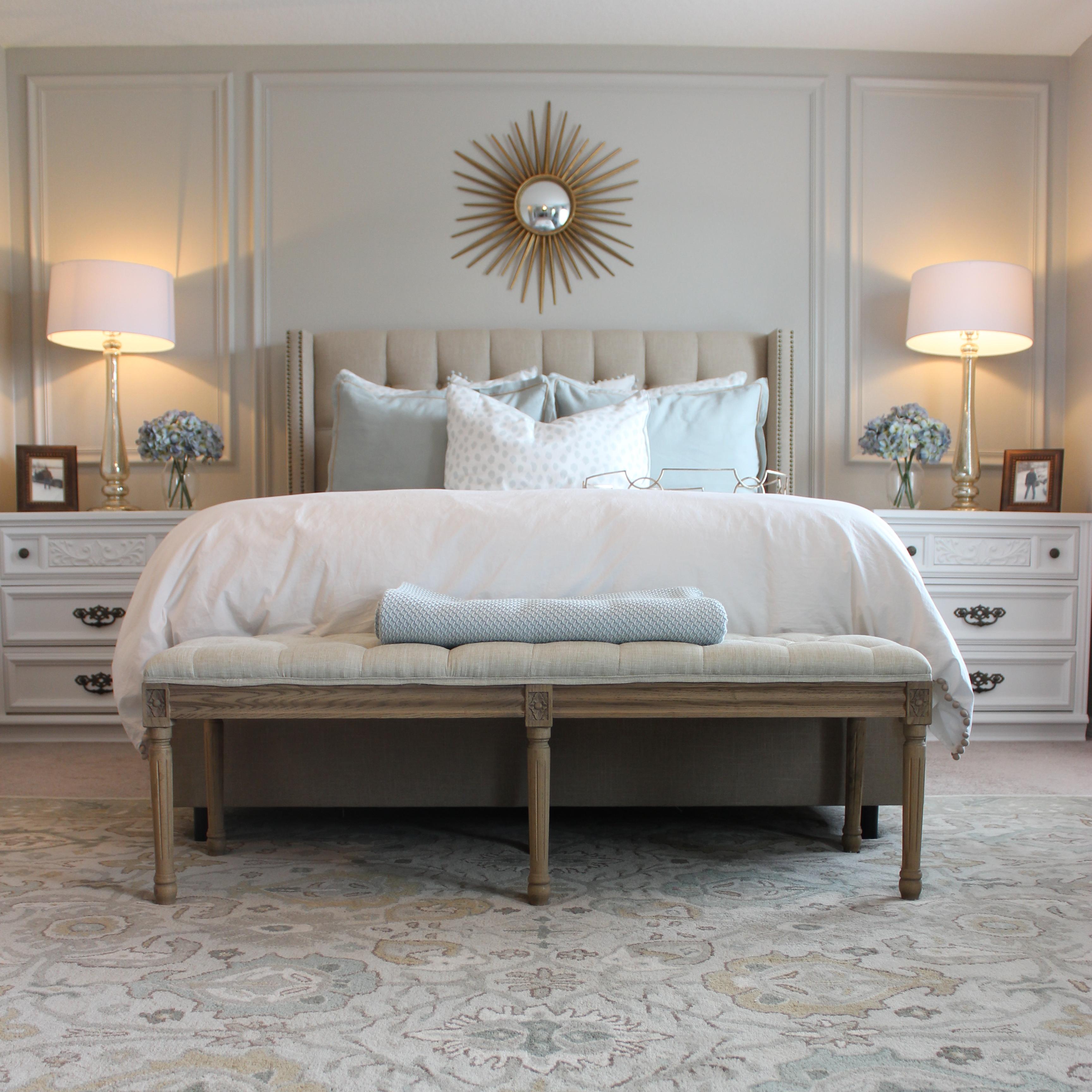 Master Bedroom Monogrammed Pillows Frills And Drills